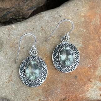 Green Amethyst Sterling Earrings