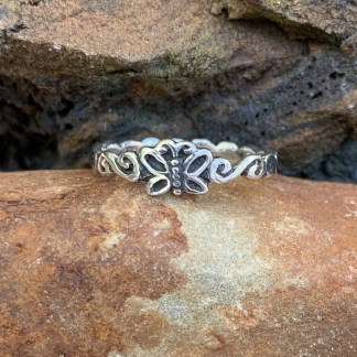 Dainty Sterling Butterfly Ring