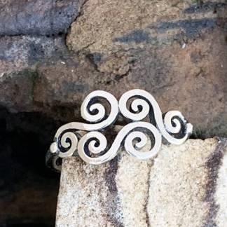 Multiple Swirls Sterling Ring