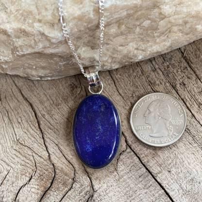 Dark Lapis-Lazuli Oval Pendant