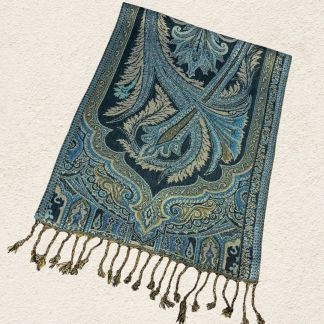 Turquoise and Wheat Scarf