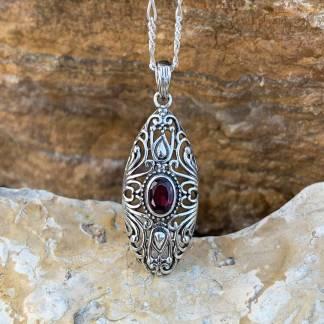 Antique Style Garnet Pendant