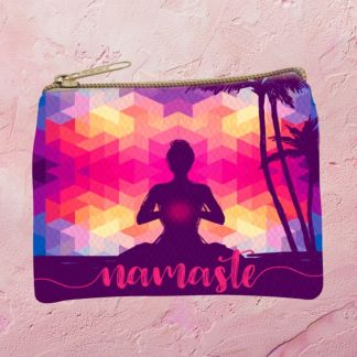 Colorful Namaste Coin Purse