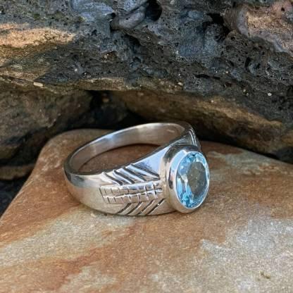 Sterling Blue Topaz Ring