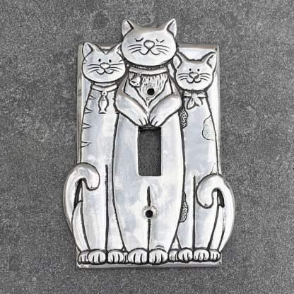 Triple Cat Switch Plate