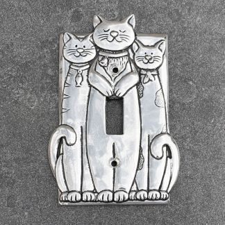 Triple Cat Switch Plate