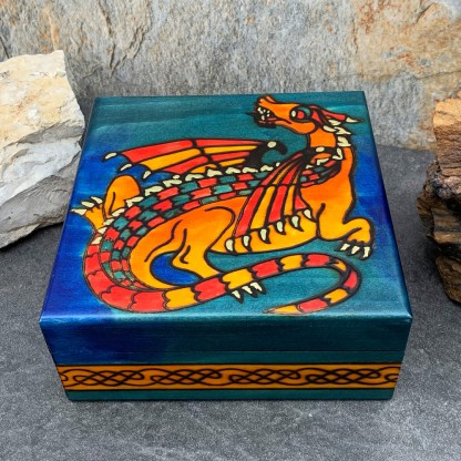 Handcrafted Fire Dragon Box
