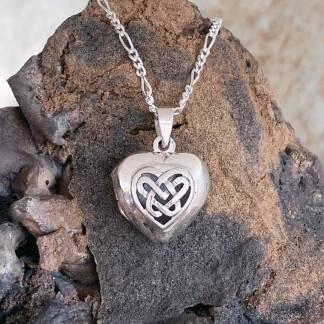 Sterling Celtic Heart Locket