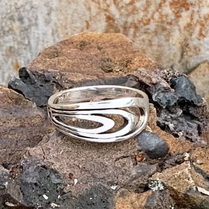 Sterling Repeating Oval Ring
