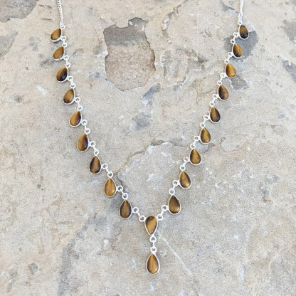 Tiger's Eye Waterfall Necklace