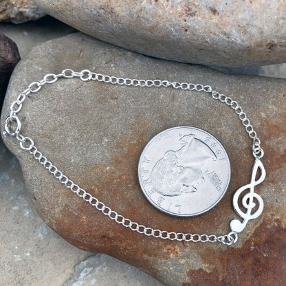 Sterling Treble Clef Bracelet