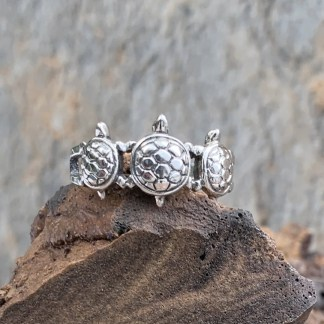 Sterling Triple Turtle Ring