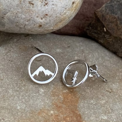 Sterling Mountain Silhouette Studs