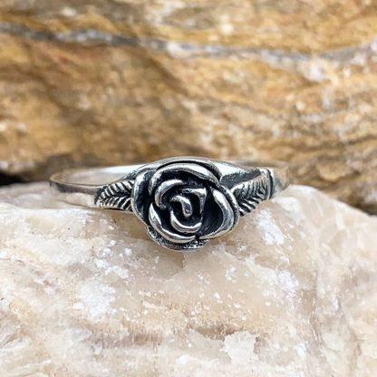 Sterling Blooming Rose Ring