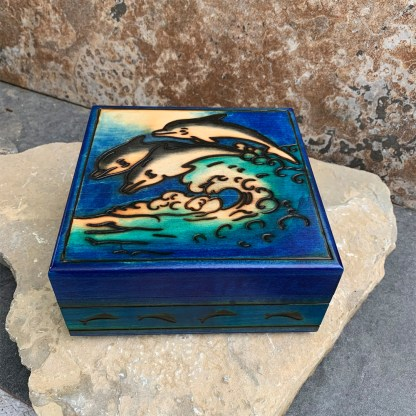 Dancing Dolphins Keepsake Box