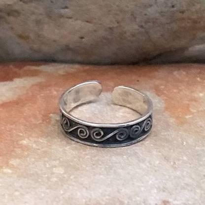 Sterling Swirl Toe Ring