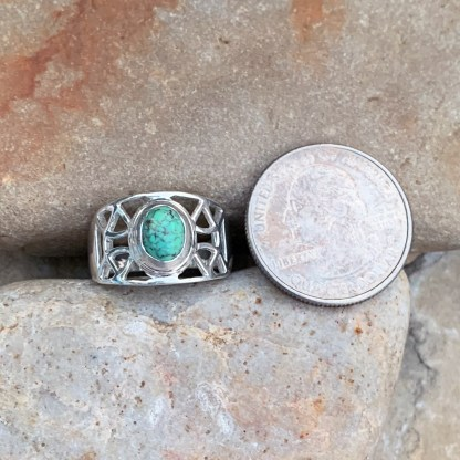 Sterling Cutout Turquoise Ring