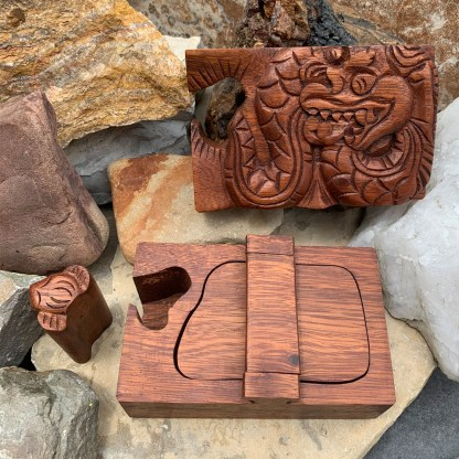 Wooden Dragon Puzzle Box