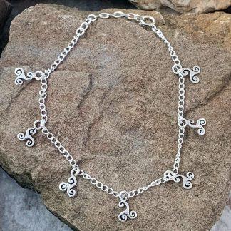 Multi Triskelion Sterling Bracelet