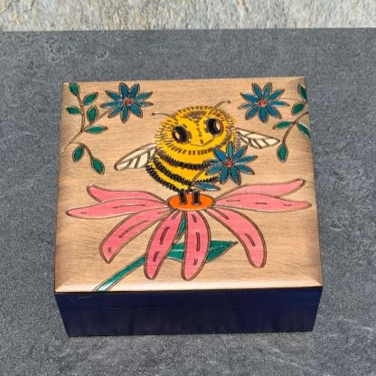Handcrafted Bumblebee & Aster Box
