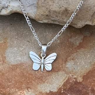 Petite Sterling Butterfly Pendant