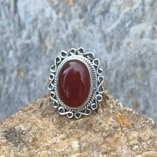 Oval Carnelian Sterling Ring