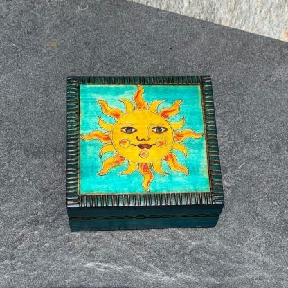 Handcrafted Happy Sun Box