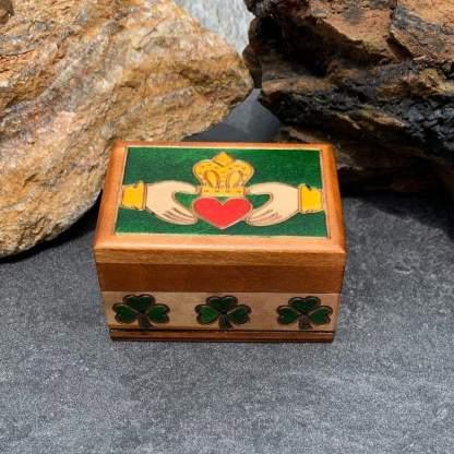 Handcrafted Mini Claddagh Box