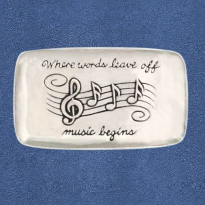 Pewter Music Lovers Tray