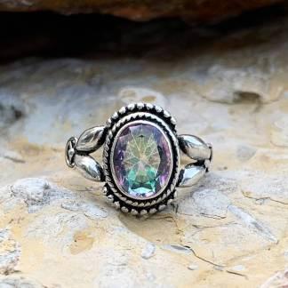 Mystic Topaz Vintage-Style Ring