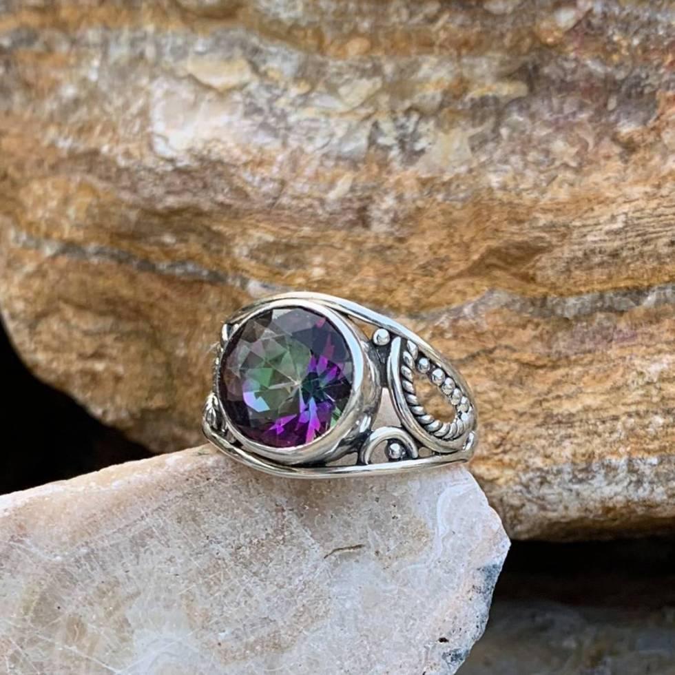 Sparkling Mystic Topaz Ring