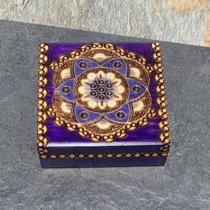 Handcrafted Purple Flower Box