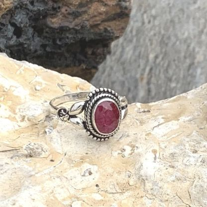 Ruby & Sterling Silver Ring