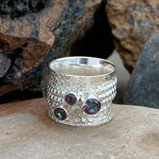 Mystic Topaz & Amethyst Ring