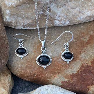 Oval Black Onyx Set