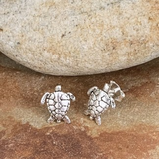 Sterling Sea Turtle Studs