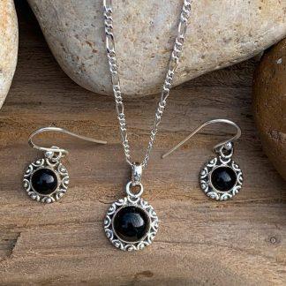 Black Onyx Sterling-Silver Set