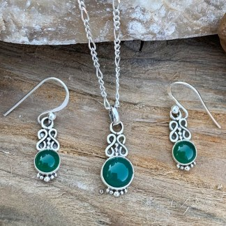 Green Onyx Infinity Set