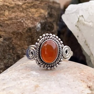 Autumn Glow Carnelian Ring