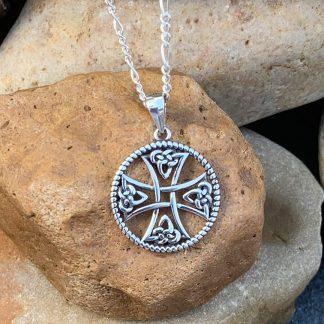 Celtic Cross Sterling Pendant