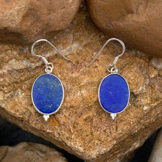 Oval Lapis Lazuli Earrings