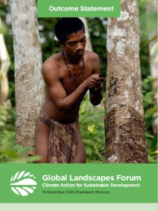 Outcome Statement of the 2016 Global Landscapes Forum: Climate Action for Sustainable Development