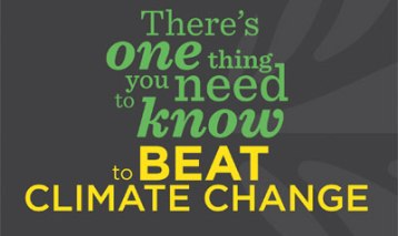 Beat climate change: one thing you need to know