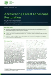 Accelerating Forest Landscape Restoration