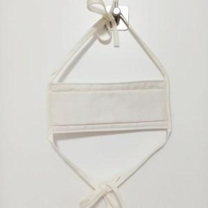 Masque barrière en tissu blanc