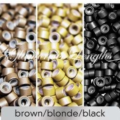 100 x blonde micro rings (5mm)