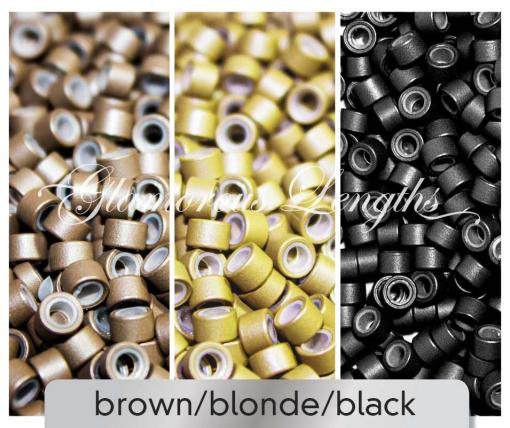 100 x black silicone micro rings (5mm)
