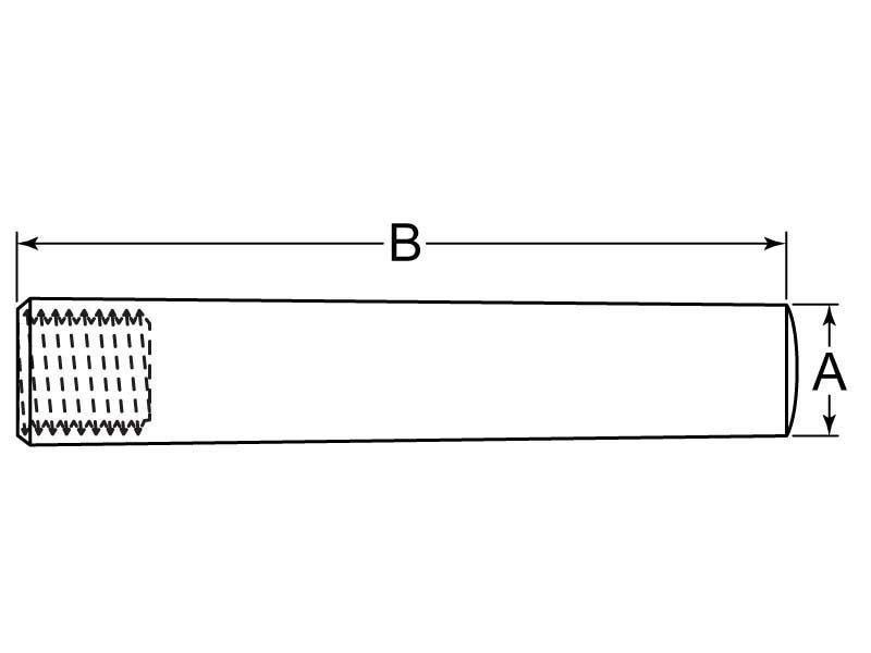 Taper Pin Threaded Int 12 mm x 70 mm Carbon Steel DIN7978