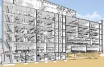 NAU Science & Health Building - Section Rendering