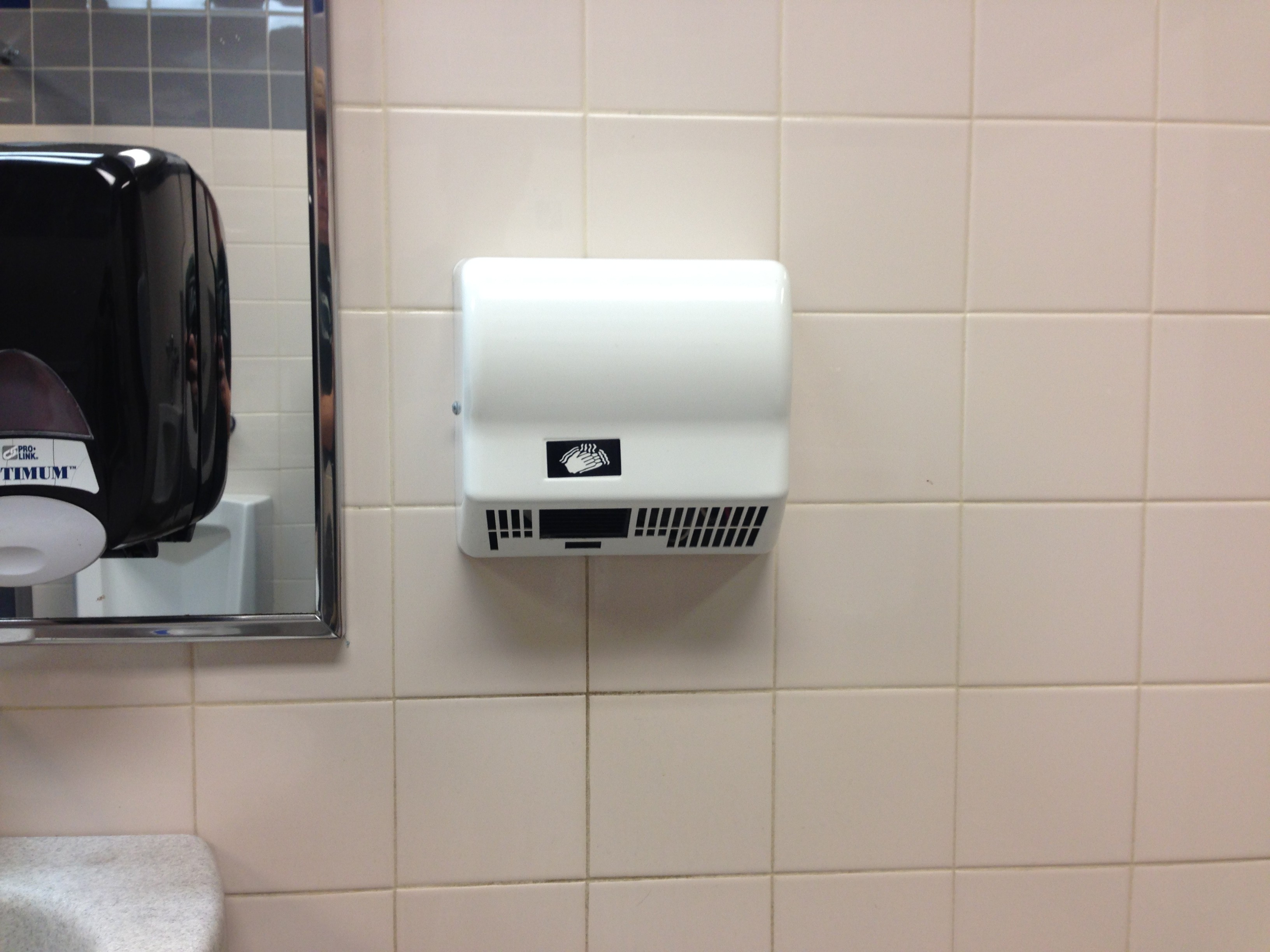 hand dryers in bathrooms perform poorly | the reflection